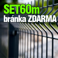 SET 60m Panel3D + bránka